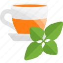 fruits, greenery, herbal, sheet, tea