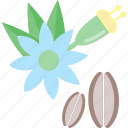 beans, flower, food, herbs icon