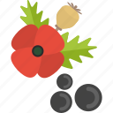flower, food, herbs, red icon