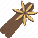 cinnamon, food, herbs, plant icon