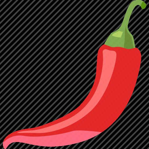 chile, chili, chilli, hot, pepper, red, spicy icon