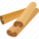 additive, aromatic, cinnamon, condiment, flavoring, spice, sticks icon