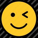 wink, emoji, face, emoticon, emotion, smiley, smile