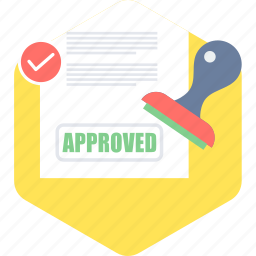 accept, approve, approved, confirm, ok, stamping, yes icon
