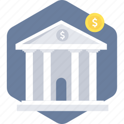 bank, banking, building, finance, financial institution, stock, warehouse icon