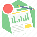 analysis, business, chart, document, plan, tea break icon
