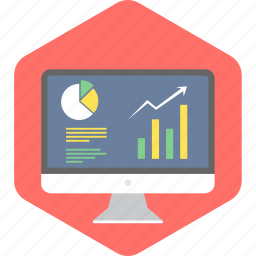 business, chart, computer, diagram, graph, presentation, progress icon