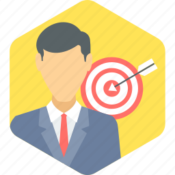 business, focus, target icon
