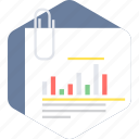 chart, document, graph, paper, statistics icon