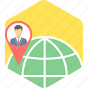 client, gps, location, map icon