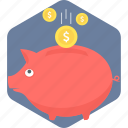 funding, investment, money, piggy bank, saving icon