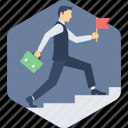 achievement, growth, ladder, success icon