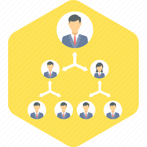 group, hierarchy, management, organization, structure, team icon
