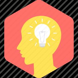 brain, idea, lamp, think, thinking icon