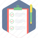checklist, document, list, paper icon