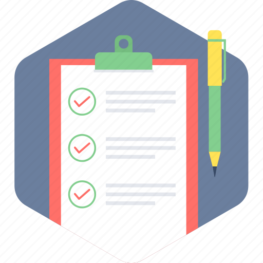 List, checklist, paper, document icon