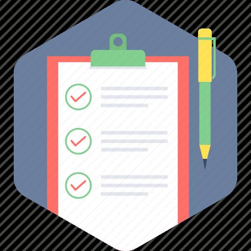 checklist, document, list, paper icon