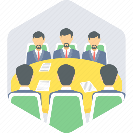 business, conference, discussion, group, management, meeting icon