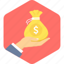 bag, banking, cash, finance, money, payment, saving icon
