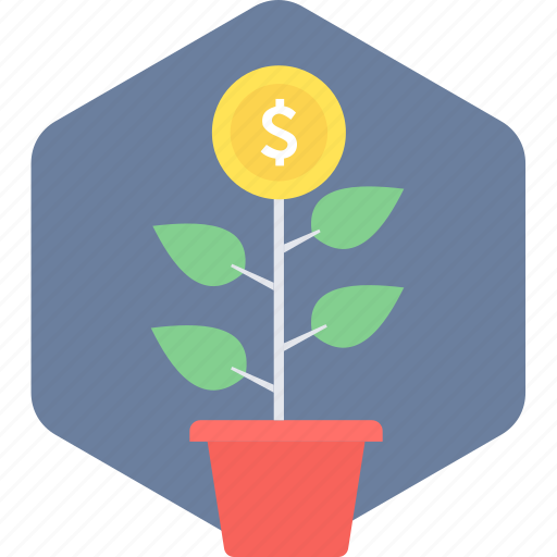 business start, eco project, farm, making, money, money plant, plant icon