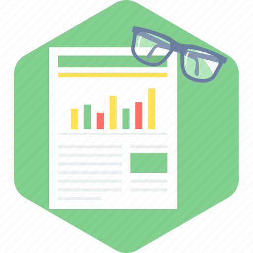 analysis, chart, diagram, graph, report, review, spects icon