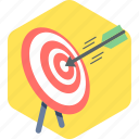 arrow, dart, direction, focus, target icon
