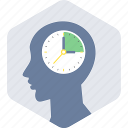 brain, creative, mind, think, timing icon