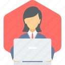 avatar, employee, female, people, person, women, working icon
