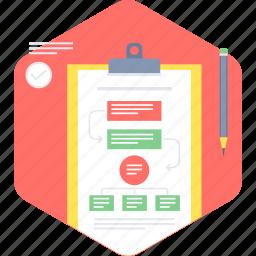business, chart, flow, method, sheet, work, work flow icon