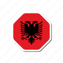 albania, euro, euro cup, flag, football, france, sticker icon