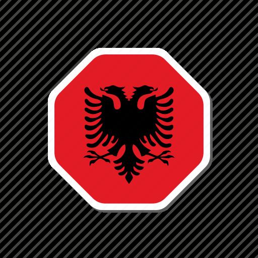albania, euro, euro cup, flag, football, france, sticker icon