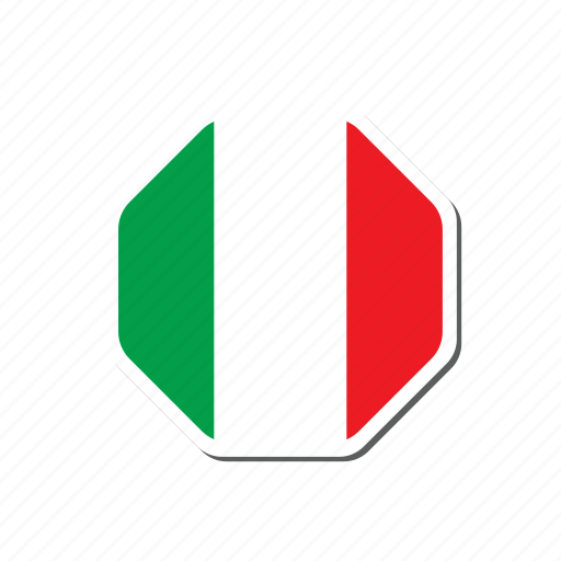 euro, euro cup, flag, football, france, italy, sticker icon