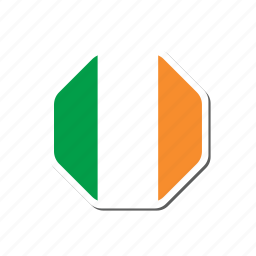 euro, euro cup, flag, football, france, ireland, sticker icon