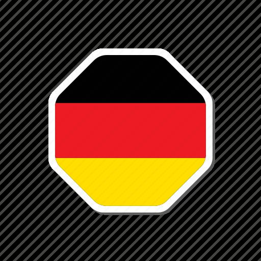 deutch, euro, flag, football, france, germany, sticker icon