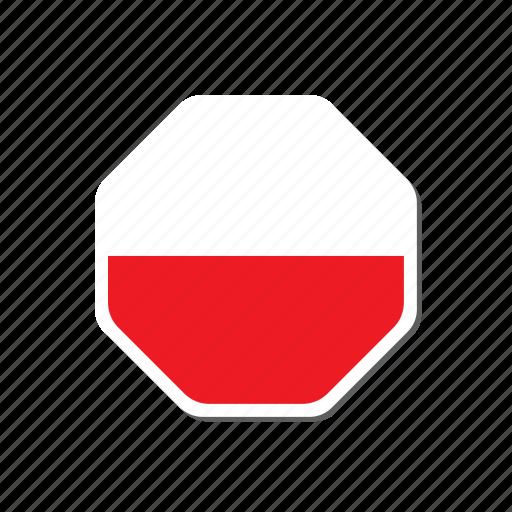 euro, euro cup, flag, france, hexagonal, poland, sticker icon