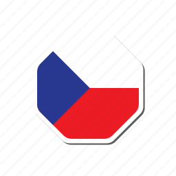 czech, czech republic, euro, euro cup, flag, football, sticker icon