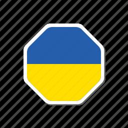 euro, euro cup, flag, football, france, sticker, ukraine icon