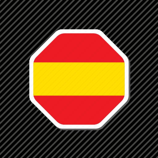 euro, euro cup, flag, football, spain, sticker icon