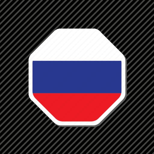 euro, euro cup, flag, football, france, russia, sticker icon