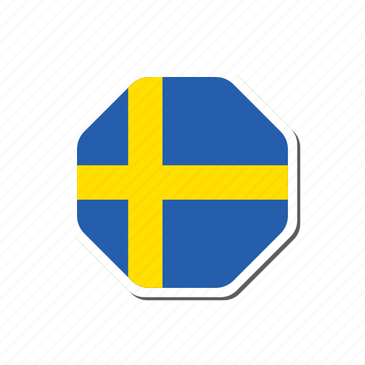 euro, euro cup, flag, football, sticker, sweden icon