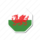 euro, euro cup, flag, france, sticker, wales icon