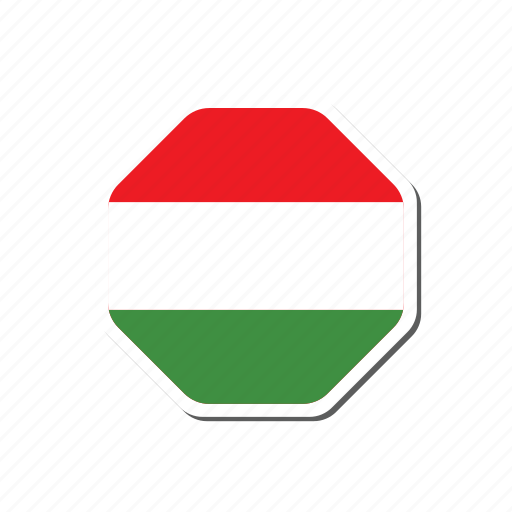 euro, euro cup, flag, france, hexagonal, hungary, sticker icon