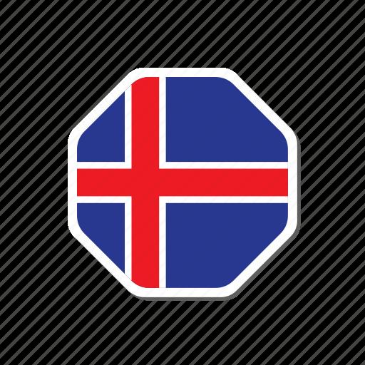 euro, euro cup, flag, football, france, iceland, sticker icon