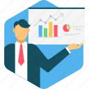 analysis, analytics, business, graph, office, presentation, report icon