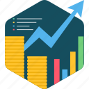 financial, growth, analysis, business, chart, graph, report icon