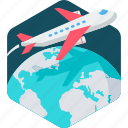 aeroplane, airplane, aviation, business, flight, plane, tour icon