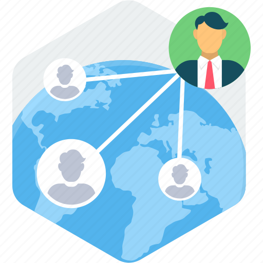communication, connection, global, interaction, internet, social, users icon