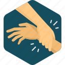 hand, helping, building, drawn, gesture, team icon