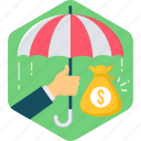 insurance, privacy, protect, protection, safety, security, umbrella icon