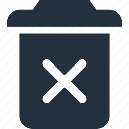 across, clear, garbage, remove, trash icon